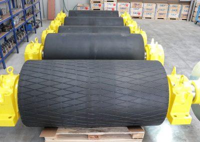 Tamburi per movimentazione sfusi diam 800 x 1600 gommati
