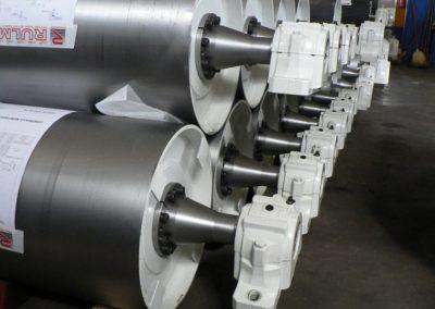 Tamburi per movimentazione sfusi serie tamburi diam 630 x 1800 completo di contagiri e supporti